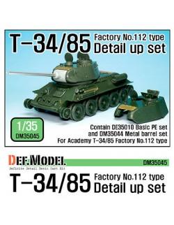DEF.MODEL, T-34/85 Fac.No. 112 Detail up set  (DM35044+DE35010), DM35045 , SCALE 1/35