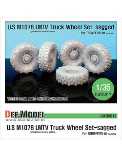 DEF.MODEL, M1078 U.S LMTV Truck Sagged Wheel set (for Trumpeter 1/35), DW35017, SCALE 1/35
