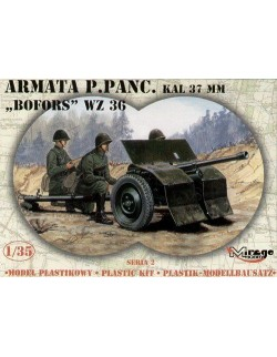 BOFORS wz.36, POLISH ARMY 37mm ANTI-TANK GUN, MIRAGE HOBBY 35212, SCALE 1/35