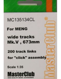MASTERCLUB 1/35, MC135134CL, RESIN TRACKS for Mk.V (Wide, 673mm)