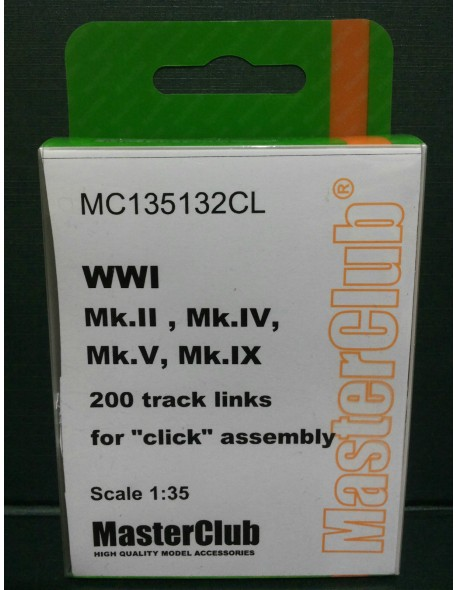 Resin Tracks for Mk. IV, Mk.II, Mk.V, MC135132CL, MasterClub, 1:35