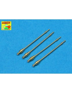 7,92mm GERMAN MG42 METAL BARREL WITHOUT JACKET (4 PIECES) , ABER 35L092,1:35