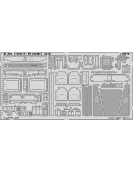 PE parts for Defender 110 hardtop 1/35 (for HOBBYBOSS), Eduard 36200