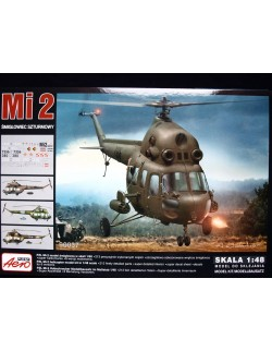 MILL Mi-2 ATTACK HELICOPTER, AEROPLAST, 90037, 1/48