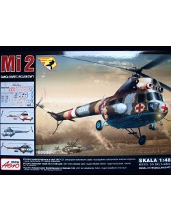 MILL Mi-2 MILITARY HELICOPTER – MEDEVEC VERSION, AEROPLAST, 90038, 1/48