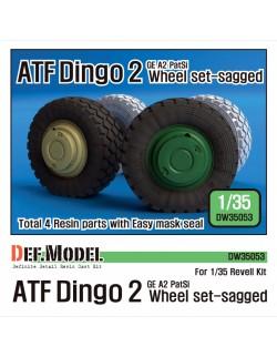 DEF.MODEL, AFT Dingo 2 GE A2 PatSi Sagged Wheel set, DW35053, 1:35