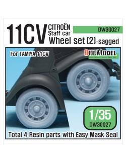 DEF.MODEL, 11CV Staff car Sagged Wheel set (2), DW30027, 1:35