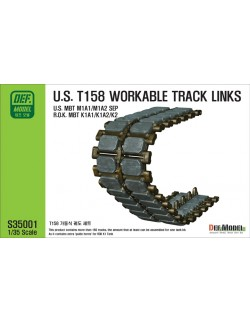 DEF.MODEL, S35001, T158 Tank Workable Track links (for M1 ABRAMS), 1:35
