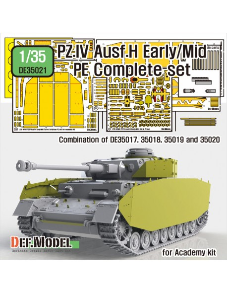 DEF.MODEL, DE35021, German Pz.IV Ausf.H Early/Mid PE Complete set, 1:35
