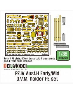 DEF.MODEL, DE35020, German Pz.IV Ausf.H O.V.M holder PE set, 1:35