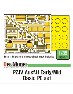 DEF.MODEL, DE35017, German Pz.IV Ausf.H Early/Mid Basic PE set, 1:35