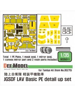 DEF.MODEL, DE35011, JGSDF LAV Basic PE detail up set, 1:35