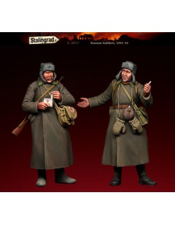 STALINGRAD MINIATURES 1:35 RUSSIAN SOLDIER (2 FIGURES) 1941-1943, S-3057