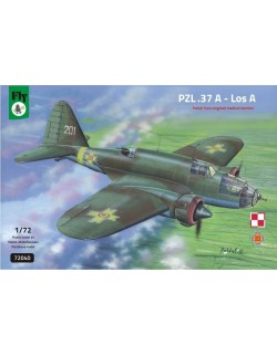 FLY 72040, PZL.37 A - LOS A, POLISH TWIN ENGINED MEDIUM BOMBER, SCALE 1/72