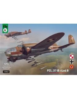 FLY 72042, PZL.37B - LOS B, POLISH TWIN ENGINED MEDIUM BOMBER, SCALE 1/72