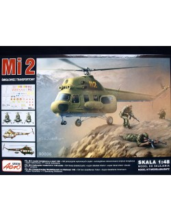 MILL Mi-2 MILITARY HELICOPTER, AEROPLAST, 90036, 1/48