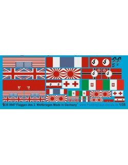 Peddinghaus 1/35, 0947, Decals for Flags of the 2.nd world war.