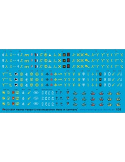 Peddinghaus 1/35, 0884, Decals for German WWII tank division unit signs