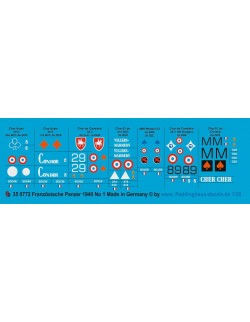 Peddinghaus 1/35, 0772, Decals for French tank markings 1939-40 No 1