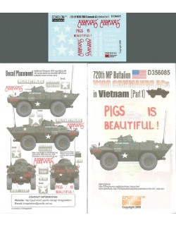 ECHELON FD D356085,1/35 Decals for 720th MP Btn V100s in Vietnam (Pt1)