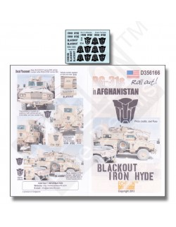 ECHELON FD D356166, 1/35 Decals for RG-31s in Afghanistan