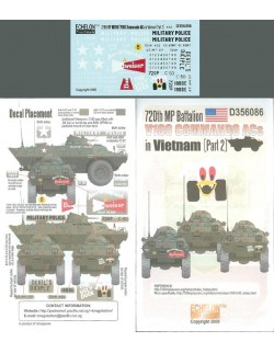 ECHELON FD D356086,1/35 Decals for 720th MP Btn V100s in Vietnam (Pt.2)