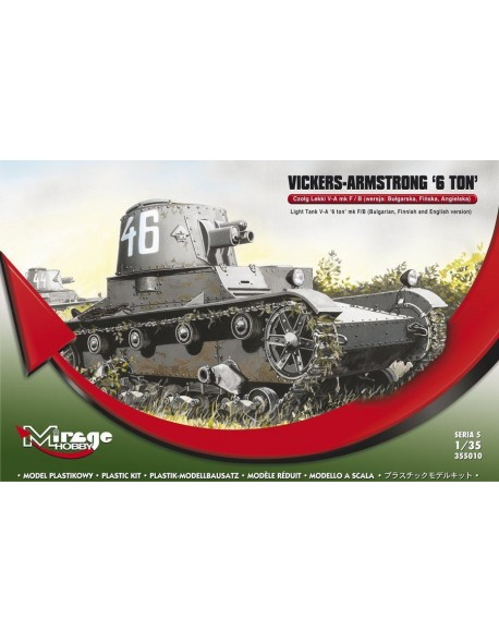 Mirage 355010, 1/35, VICKERS-ARMSTRONG '6 ton' Mk F/B Light Tank, SCALE  1/35 - Wildcat's Models Marcin Kita