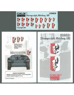 ECHELON FD D356020,1/35 Decals for Sturmgeschutz Abteilung 189