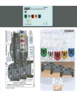 ECHELON FD D356047,1/35 Decals for Sturmgeschutz Abteilung 197