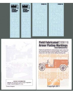 ECHELON FD D356118,1/35 Decals for Field Fabricated Armor Plating Markings