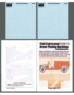 ECHELON FD D356119,1/35 Decals for Field Fabricated Armor Plating Markings
