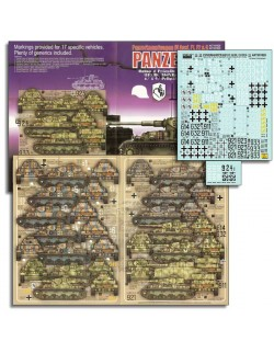 ECHELON FD ATX351020,1/35 Decals for GD, 18.PzAbt, 11.PD & Das Reich Panzer IVs