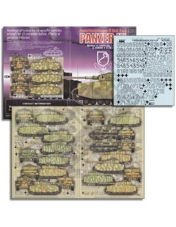 ECHELON FD ATX351023,1/35 Decals for LSSAH Panzer IV Ausf Gs & Hs in Kursk & Ita