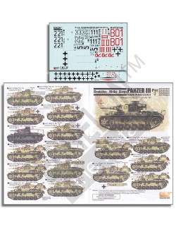 ECHELON FD ATX351026,1/35 Decals for DAK Panzer IIIs (Part 2)