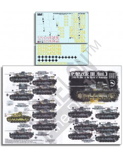 ECHELON FD ATX351027,1/35 Decals for 24th Pz.Div. Panzer IIIs - Battle of Stalin