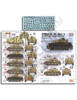ECHELON FD ATX351030,1/35 Decals for LAH Panzer IV Ausf. Js 1944-1945