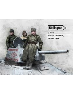 STALINGRAD MINIATURES, 1:35, Russian Tank Crew, Ukraine 1944 (3 FIGURES), S-3059