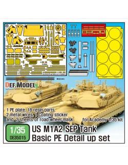 DEF.MODEL, DE35015, M1A2 SEP ABRAMS Basic PE set(for 1/35 Academy kit), 1:35