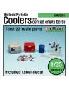 DEF.MODEL, DM35013, Modern U.S Portable Cooler set 1/35),1/35