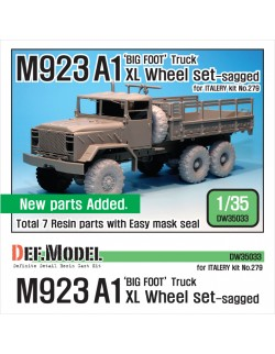 DEF.MODEL, M923A1 'BIG FOOT' Truck Michelin XL Sagged Wheel set, DW35033, 1:35