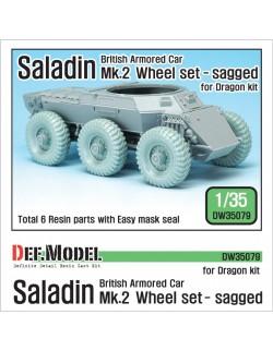 DEF.MODEL, British Saladin MK.II Sagged Wheel set, DW35079, 1:35