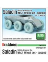 DEF.MODEL, British Saladin MK.II Sagged Wheel set, DW35079, 1:35