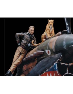 LEGEND PRODUCTION, LF0031, Flying Tigers' pilot with a leopard (WWⅡ),1:35