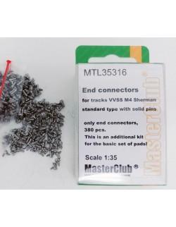 MasterClub MTL35316,SCALE 1/35, END CONNECTORS (W.SOLID PINS) FOR TRACKS VVSS M4