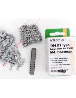 MasterClub MTL35308, SCALE 1/35, M4 Sherman Pads T62 Type (180pcs)
