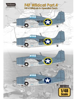Wolfpack WD48014,F4F Wildcat Part.4 - (DECALS SET), SCALE 1/48