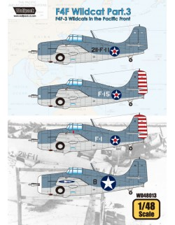 Wolfpack WD48013, F4F Wildcat Part.3 - Wildcats in the P(DECALS SET), SCALE 1/48