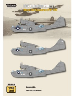 Wolfpack WD48011, PBY Catalina Part.2 - Black Cat Squad (DECALS SET), SCALE 1/48