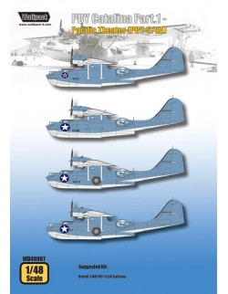 Wolfpack WD48007, PBY Catalina Part.1 - Pacific Theater (DECALS SET), SCALE 1/48