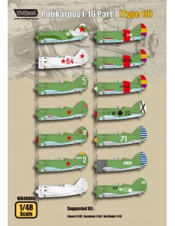 Wolfpack WD48006, Polikarpov I-16 Part.1 (Type 10) (DECALS SET), SCALE 1/48